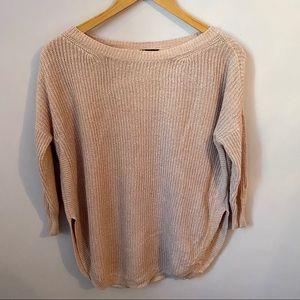 EXPRESS pink quarter sleeve sweater